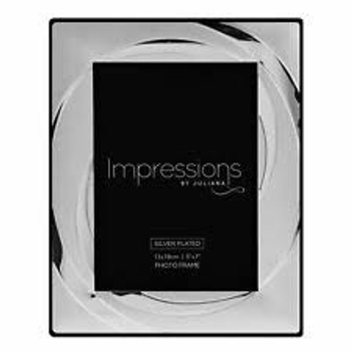 Impressions Silver Plated Photo Frame 5x7in
