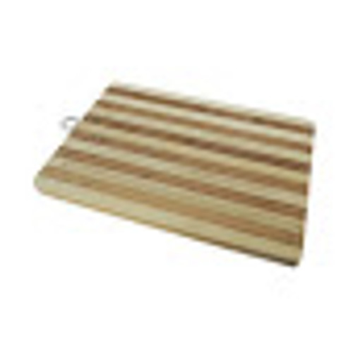 Bamboo Wooden Chopping Board Reversible With Metal Handle 30x20cm