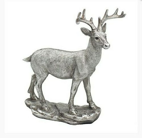 Leonardo Collection Reflections Silver Deer Ornament Right Face