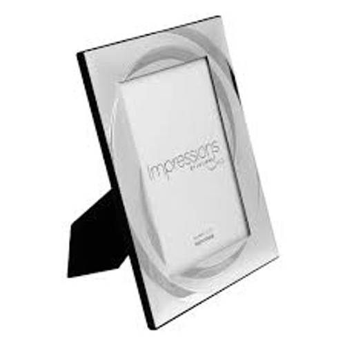 Impressions Silver Plated Photo Frame 4x6in