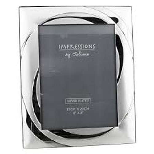 Impressions Silver Plated Photo Frame 6x8in