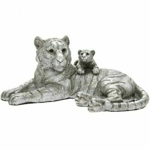 Leonardo Collection Reflections Silver Tiger with Cub Ornament