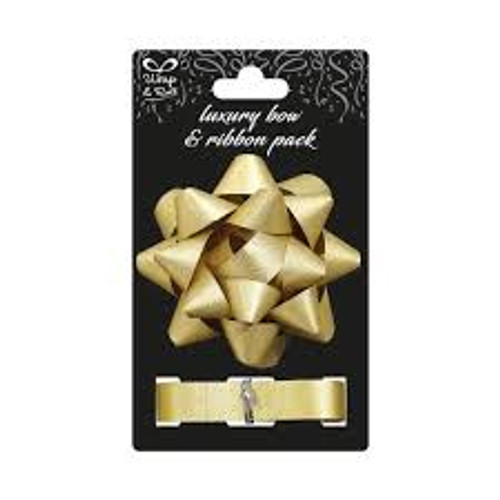 Luxury Ribbon and Bow Gold 4in