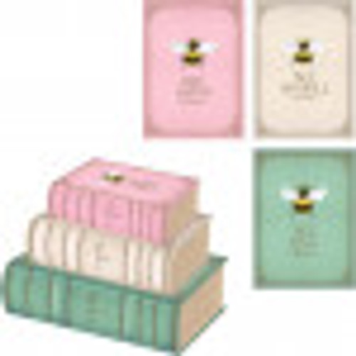 Bee Happy Book Box Size 3 Pink