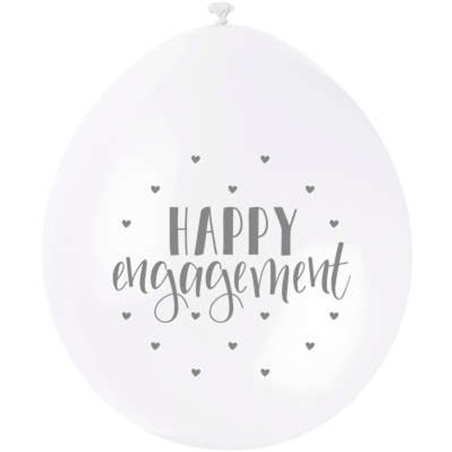 Happy Engagement 9in Latex Balloons Pk10