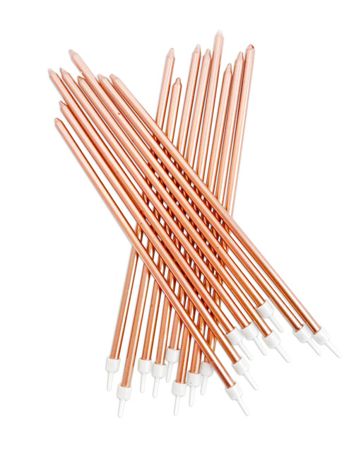 Cake Candles Pk16 Extra Tall Rose Gold