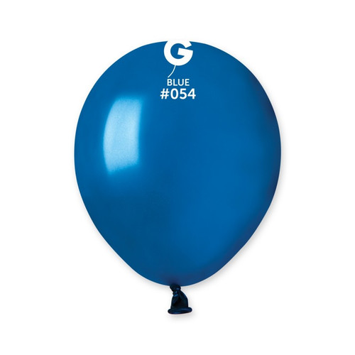 5in Latex Balloons Bag of 50 Saphire Blue 054