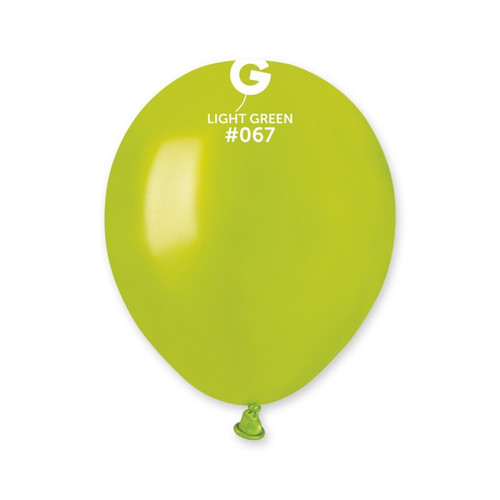 5in Latex Balloons Bag of 50 Lime Green 067