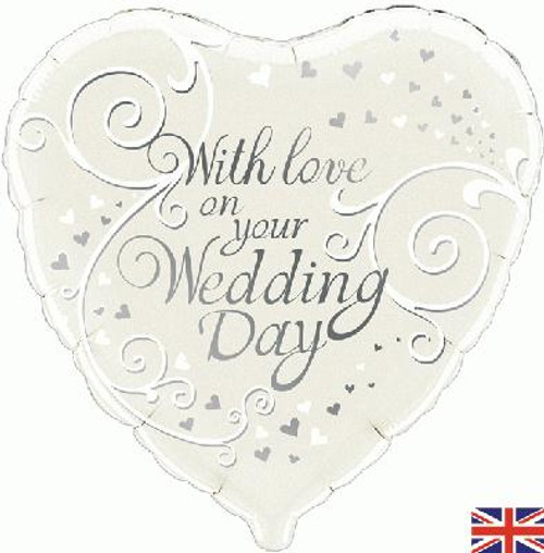 H100 18in Foil Balloon With Love on Your Wedding Day