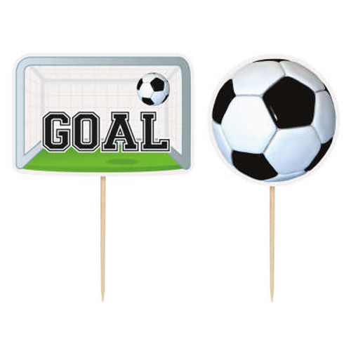 3D Football Cake Toppers Pk6
