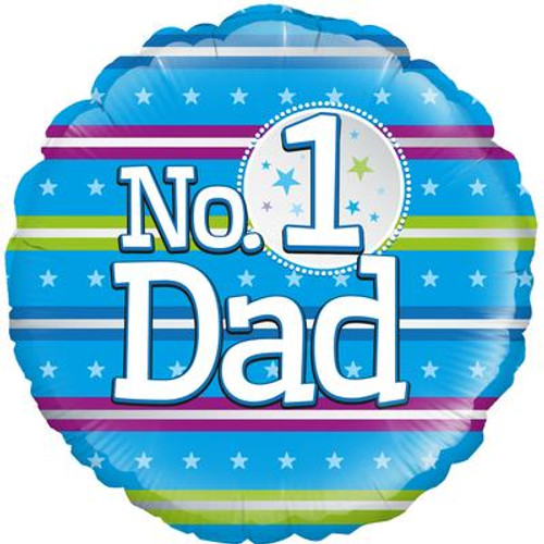 H100 18in Foil Balloon Numer 1 Dad
