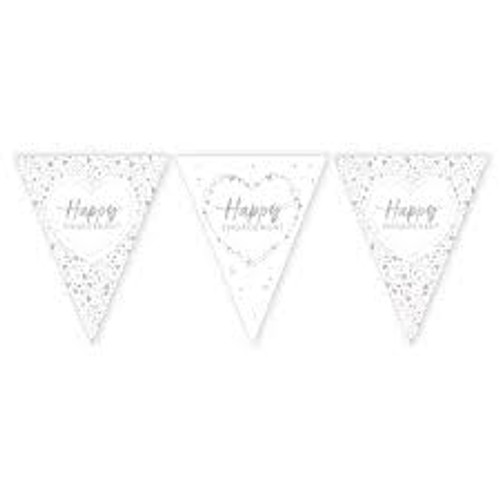 Happy Engagement Paper Flag Bunting Foil Stamped