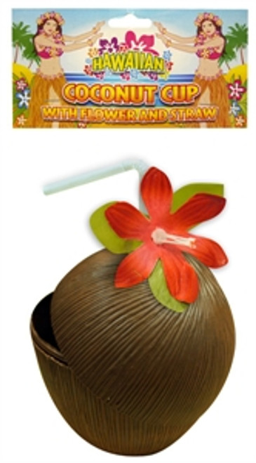 Cup Coconut with Flower & Straw
