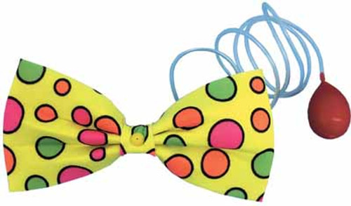 Large Water Squirt Clown Bow Tie
