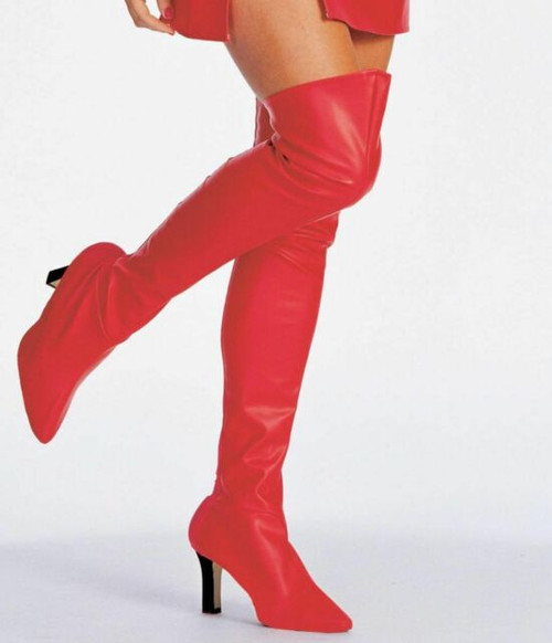 Lace Up  Boot Tops Red