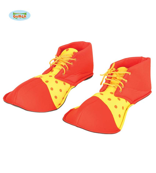 CLOWN SHOES RED AND YELLOW 36 CMS
