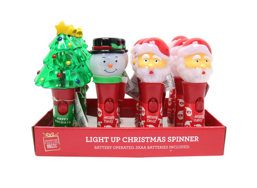 LIGHT UP SPINNING CHARACTERS