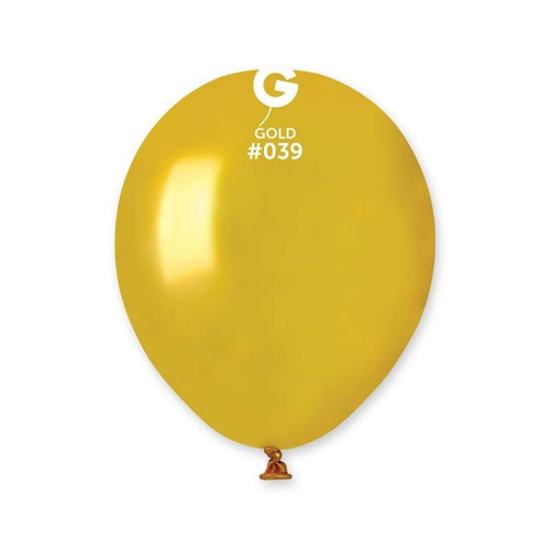 5in Latex Balloons Gold Pk100