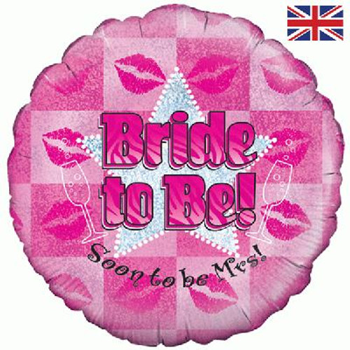 H100 18in Foil Balloon Bride To Be