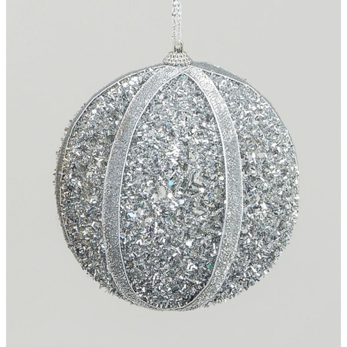Hanging Ball Decoration Silver 120mm
