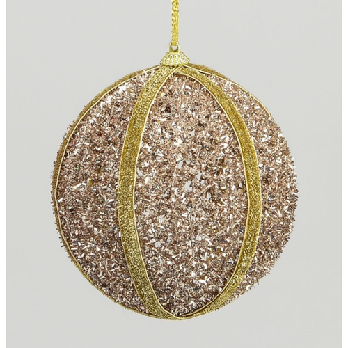 Hanging Ball Decoration Champagne 120mm