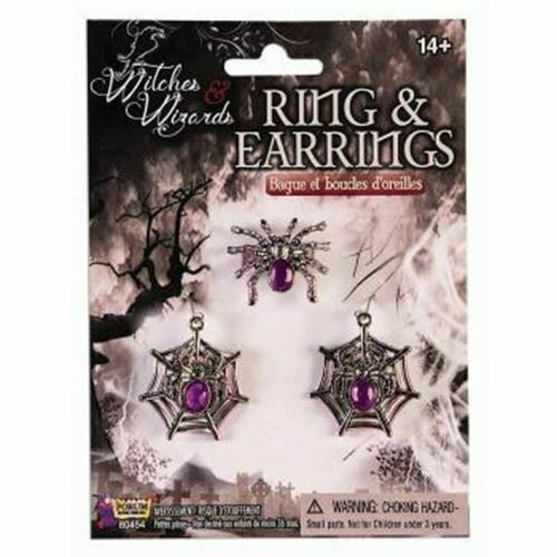 Spider Web Ring and Earring Set