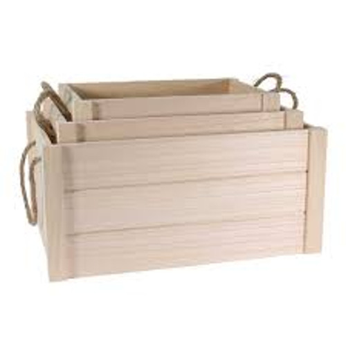 Natural Wooden Crate Size 2