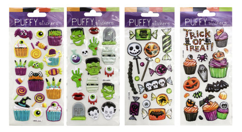 PUFFY STICKERS 9 x 21 Cm TRICK OR TREAT