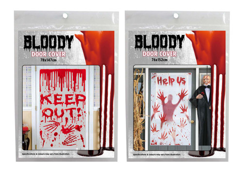 DOOR COVER BLOODY KEEP OUT