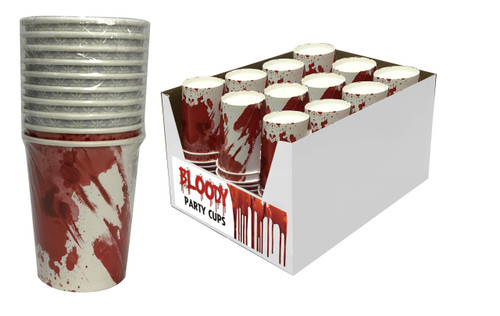 BLOODY PARTY CUPS 250ML 12PK