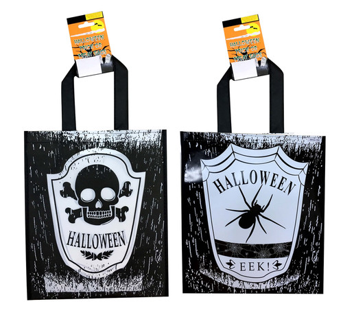 HALLOWEEN GOODY BAG SMALL 25 x 30 Cm SPIDER AND WEB