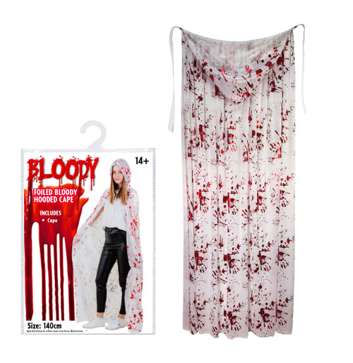 FOILED BLOODY ROBE 140 Cm WHITE
