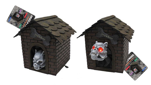 ANIMATED LIGHT UP DOG HOUSE WITH MOVING DOG 20 Cm WITH LIGHT AND SOUND