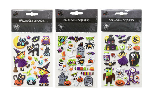 HALLOWEEN STICKERS CATS AND WITCHES