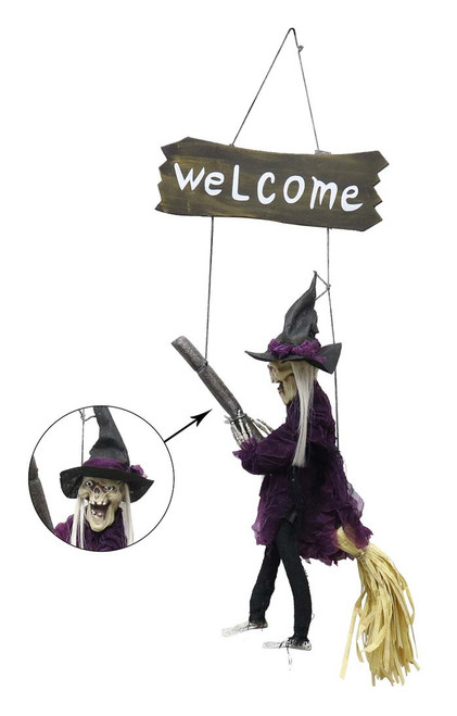 HANGING WITCH ON SWING 69 Cm