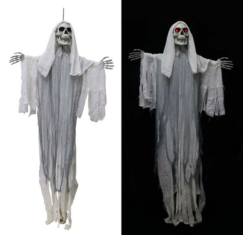 ANIMATED HANGING REAPER MOVING HEAD AND ARMS WITH LIGHT AND SOUND 160 Cm