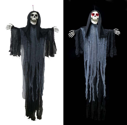 ANIMATED HANGING REAPER MOVING HEAD AND ARMS 160 Cm WITH LIGHT AND SOUND