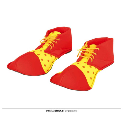 Clown Shoes Child Red Yellow