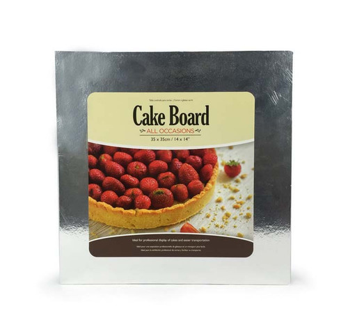 CAKEBOARD THIN SQUARE 35X35CM