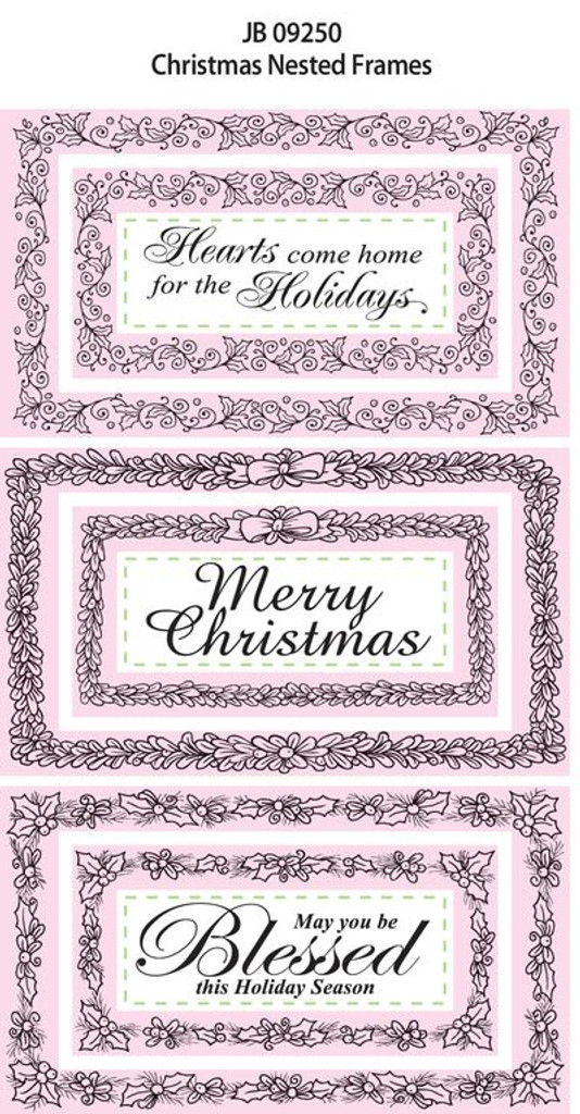 JustRite Rubber Stamps Christmas Nexted Frames