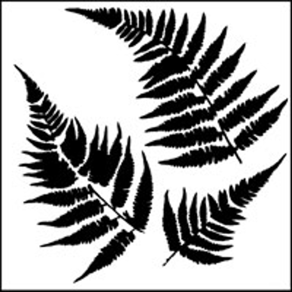 Stencil Ferns 6 x 6