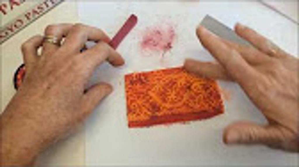 Part 1 Polymer Clay Veneers Using Chalk and Lace Video by Debbie Crothers