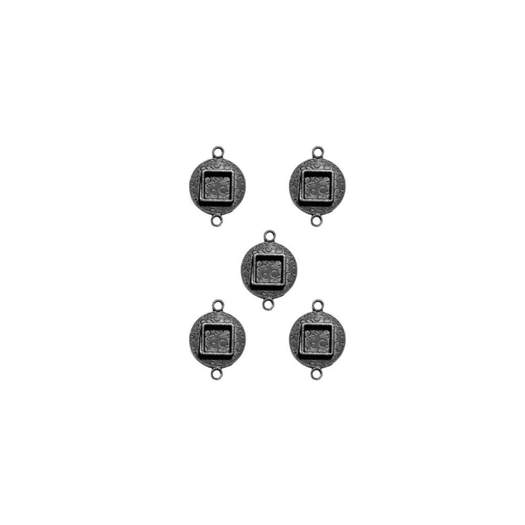 Media Mixage Bezels Silver Circles Design 2