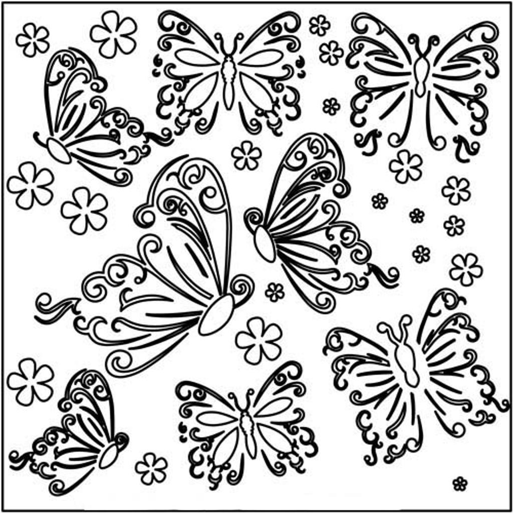 Stencil Butterflies 6 x 6