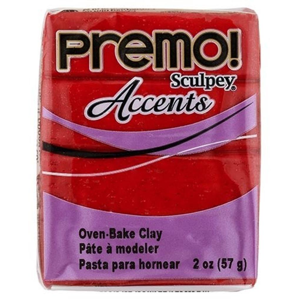 Premo! Sculpey® Accents - Red Glitter