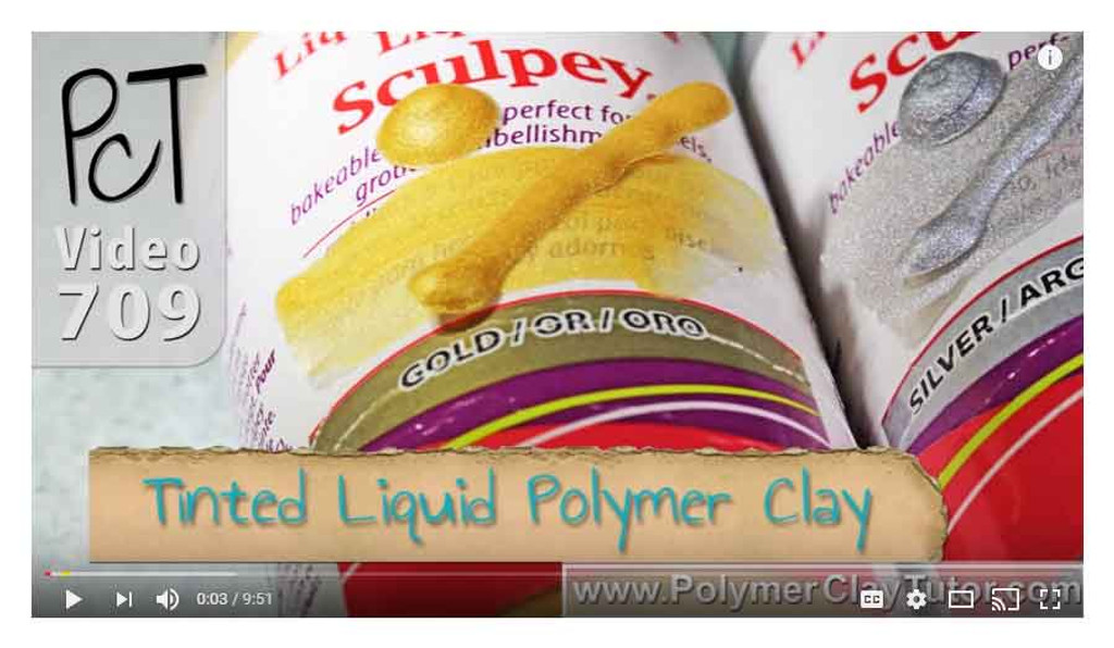 Liquid Sculpey Gold and Silver Video
