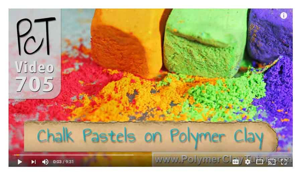 Chalk Pastels on Polymer Clay Video