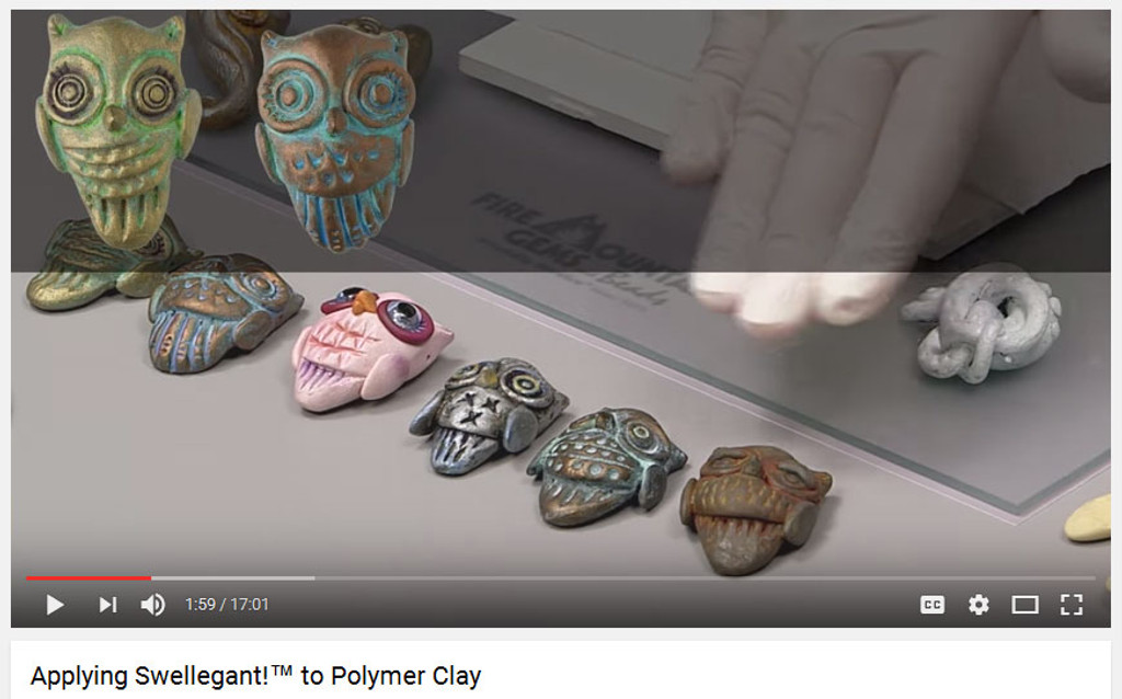 How to use Swellegant on Polymer Clay