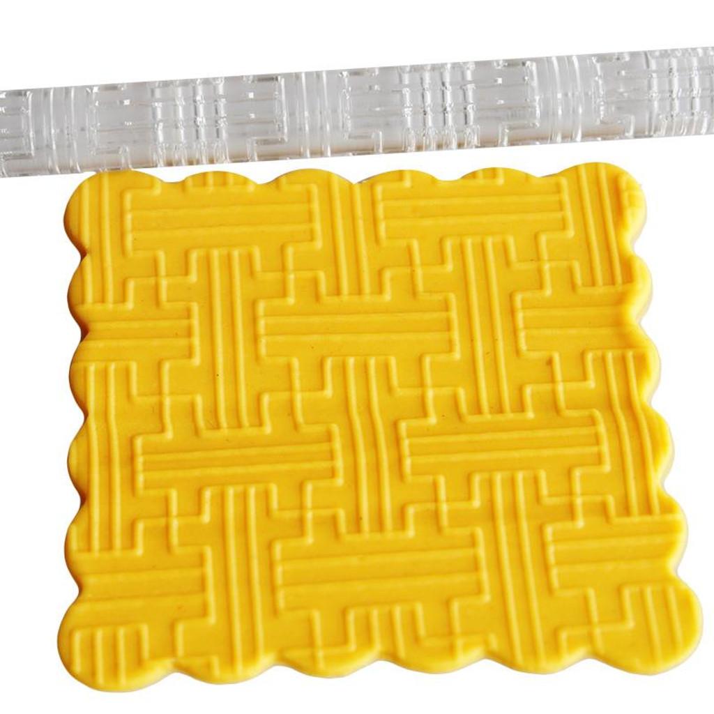 Acrylic Rolling Pin Geometric