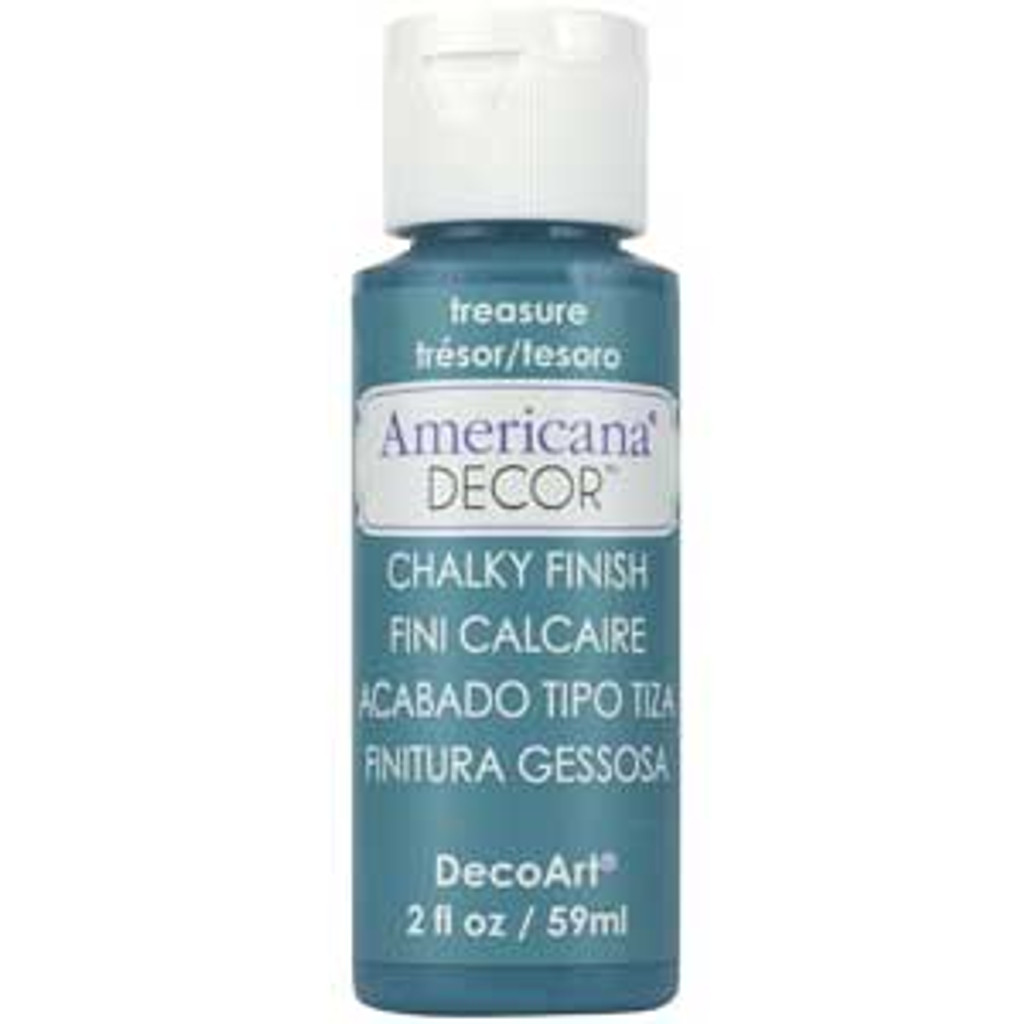 DecoArt Americana Decor Chalky Finish Paint - Treasure - 2oz